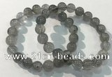 CGB4104 7.5 inches 10mm round rutilated quartz beaded bracelets