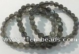 CGB4110 7.5 inches 7mm round labradorite beaded bracelets