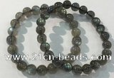 CGB4111 7.5 inches 8mm round labradorite beaded bracelets