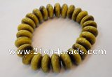 CGB450 8 inches 7*15mm rondelle yellow tiger eye gemstone bracelet wholesal