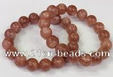 CGB4535 7.5 inches 12mm round golden sunstone beaded bracelets
