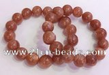 CGB4546 7.5 inches 14mm round golden sunstone beaded bracelets