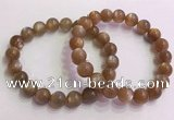 CGB4565 7.5 inches 10mm round golden sunstone beaded bracelets