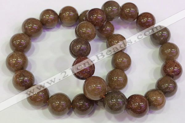 CGB4604 13mm - 14mm round golden rutilated quartz beaded bracelets