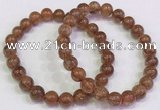 CGB4608 8mm - 9mm round golden rutilated quartz beaded bracelets