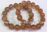 CGB4616 13mm - 14mm round golden rutilated quartz beaded bracelets