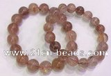 CGB4631 11mm - 12mm round red rutilated quartz beaded bracelets
