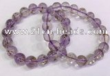 CGB4662 10mm - 11mm round purple phantom quartz beaded bracelets