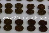 CGC183 13*18mm oval druzy quartz cabochons wholesale
