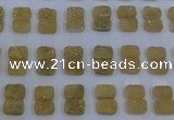 CGC203 10*14mm rectangle druzy quartz cabochons wholesale