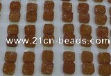 CGC224 12*12mm square druzy quartz cabochons wholesale