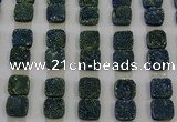 CGC226 12*12mm square druzy quartz cabochons wholesale