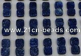 CGC229 12*12mm square druzy quartz cabochons wholesale