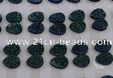 CGC259 13*18mm flat teardrop druzy quartz cabochons wholesale