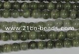 CGH02 15.5 inches 6mm round green hair stone beads wholesale