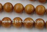 CGJ303 15.5 inches 10mm round goldstone jade beads wholesale