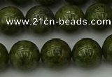 CGJ454 15.5 inches 12mm round green jasper beads wholesale