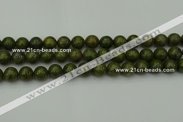 CGJ455 15.5 inches 14mm round green jasper beads wholesale
