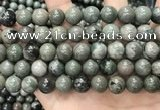 CGJ514 15.5 inches 12mm round green forst jasper beads wholesale