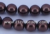 CGL118 5PCS 16 inches 16mm round dyed glass pearl beads wholesale