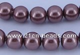 CGL123 10PCS 16 inches 6mm round dyed glass pearl beads wholesale