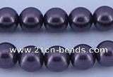 CGL135 5PCS 16 inches 10mm round dyed glass pearl beads wholesale