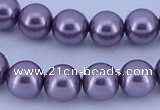 CGL149 5PCS 16 inches 18mm round dyed plastic pearl beads wholesale
