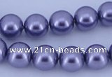 CGL161 2PCS 16 inches 25mm round dyed plastic pearl beads wholesale