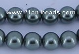 CGL216 5PCS 16 inches 12mm round dyed glass pearl beads wholesale
