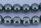 CGL218 5PCS 16 inches 16mm round dyed glass pearl beads wholesale