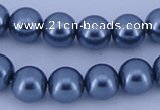 CGL241 2PCS 16 inches 25mm round dyed plastic pearl beads wholesale
