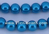 CGL260 5PCS 16 inches 20mm round dyed plastic pearl beads wholesale