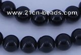 CGL287 5PCS 16 inches 14mm round dyed glass pearl beads wholesale