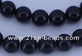 CGL291 2PCS 16 inches 25mm round dyed plastic pearl beads wholesale