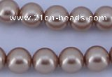 CGL358 5PCS 16 inches 16mm round dyed glass pearl beads wholesale