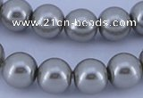 CGL376 5PCS 16 inches 12mm round dyed glass pearl beads wholesale