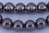 CGL402 10PCS 16 inches 4mm round dyed glass pearl beads wholesale