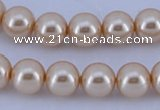 CGL49 5PCS 16 inches 18mm round dyed plastic pearl beads wholesale