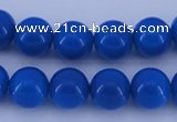 CGL815 5PCS 16 inches 10mm round heated glass pearl beads wholesale