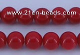 CGL848 10PCS 16 inches 4mm round heated glass pearl beads wholesale