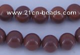 CGL888 5PCS 16 inches 12mm round heated glass pearl beads wholesale