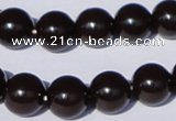 CGL897 10PCS 16 inches 6mm round heated glass pearl beads wholesale
