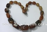 CGN102 20 inches 10*15mm - 20*30mm nuggets agate gemstone necklaces