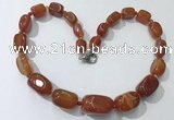 CGN104 20 inches 10*15mm - 20*30mm nuggets agate gemstone necklaces