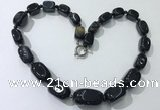 CGN110 20 inches 10*15mm - 20*30mm nuggets agate gemstone necklaces