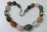 CGN130 22 inches 10*14mm - 20*30mm nuggets mixed gemstone necklaces