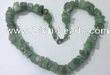 CGN160 18.5 inches 12*16mm - 13*18mm nuggets green aventurine necklaces