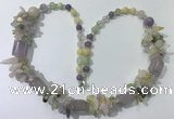 CGN303 27.5 inches chinese crystal & mixed quartz beaded necklaces