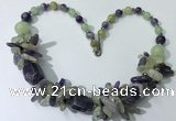 CGN330 20.5 inches chinese crystal & mixed gemstone beaded necklaces