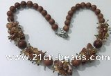 CGN359 19.5 inches chinese crystal & goldstone beaded necklaces